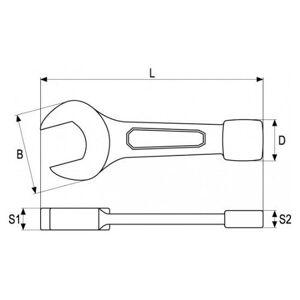 Kľúč maticový plochý rázový 27 mm