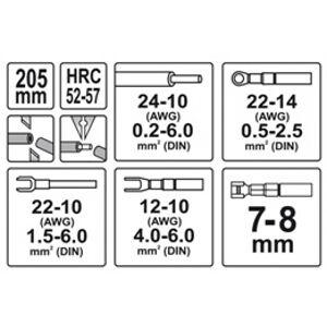 Odizolovacie kliešte a konektorové, univerzálne 205 mm