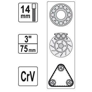 """Sťahovák  3"""" 50-150 mm (trojramenný)"""