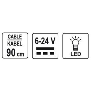 Skúšačka napätia 6-24V kábel 90cm
