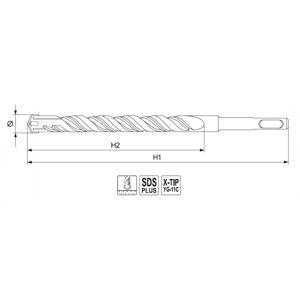 Vrták na betón SDS+ X-TIP 12x600 mm