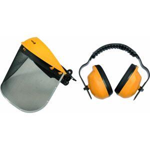 Helma s odnímateľným štítom + chrániče sluchu 395x200mm
