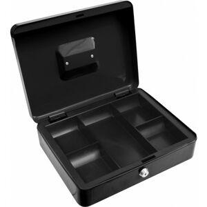 Príručná pokladňa na peniaze 300x240x90mm čierna