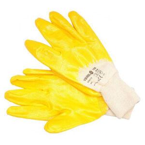 Pracovné rukavice pogumované veľ. 10, bavlna/nitril