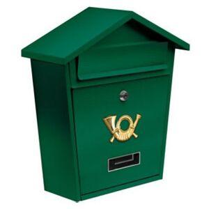 Schránka poštovná zelená 380 x 320 x 105 mm