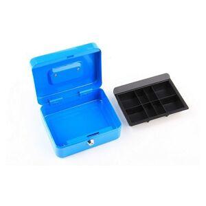 Príručná pokladňa na peniaze 200x160x90 mm modrá