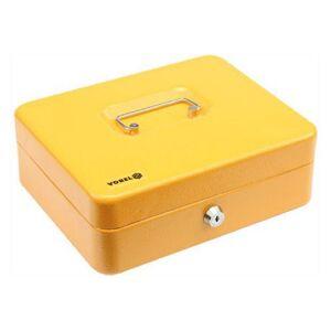 Príručná pokladňa na peniaze 250x200x90 mm žltá