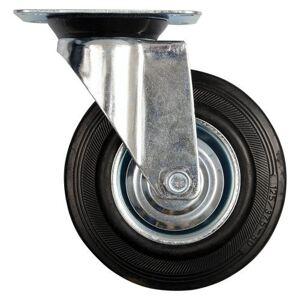 Koleso otočné s čiernou gumou 160 x 40 x 195 mm 130 kg