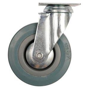 Koleso otočné so sivou gumou 50 x 16 x 72 mm 20 kg
