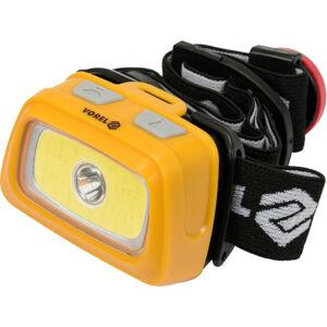 Čelová baterka LED XPE CREE 3W + COB LED 3W