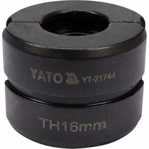 Náhradné čeľuste k lisovacím kliešťom YT-21735 typ TH 16 mm