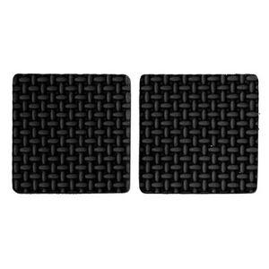 Podložky samolepiace pod nábytok čierne 85 x 85 mm 2 ks