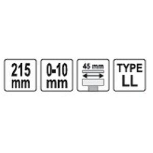 Kliešte klampiarske samosvorné 215 mm LL typ